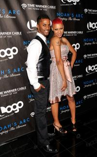 Darryl Stephens and Nikki Jane at the premiere of