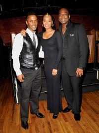 Darryl Stephens, Jennia Fredrique and Rodney Chester at the premiere of
