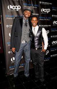 Patrik-Ian Polk and Darryl Stephens at the premiere of