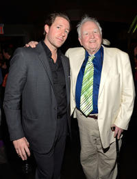 Edward Burns and Malachy McCourt at the New York premiere of