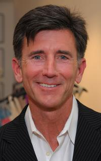 Matt McCoy at the opening of the new Badgley Mischka boutique.