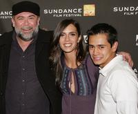 Jesus Ochoa, Paola Mendoza and Jorge Adrian Espindola at the premiere of