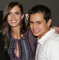 Paola Mendoza and Jorge Adrian Espindola at the premiere of
