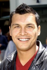 Adam Beach at a hand and footprint ceremony honoring director John Woo.