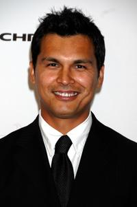 Adam Beach at the cocktail party for the Lili Claire Foundation 10th annual benefit dinner and auction.