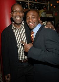 James McDaniel and Taye Diggs at the after party opening of