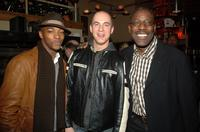Anthony Mackie, Joaquin Perez Campbell and James McDaniel at the after party opening of