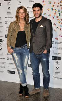 Juana Acosta and Quim Gutierrez at the Malaga Film Festival presentation party.