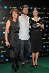Director Gracia Querejeta, Raul Arevalo and Maribel Verdu at the 22nd Goya Awards Nomination Gala.