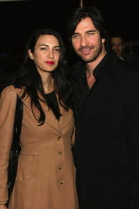 Dylan McDermott and Shiva Rose McDermott at the opening night of Eve Ensler's
