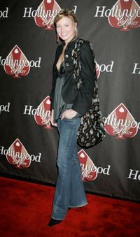 Brianne Davis at the HollywoodPoker.coms first year anniversary party to benefit the American Red Cross Gulf Relief and the Dennis Quaid supported charity.