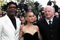 Samuel L. Jackson, Natalie Portman and Ian McDiarmid at the screening of