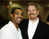 Michael Beach and Producer John Wells at the Academy of Television Arts and Sciences.