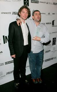 Kevin McDonald and Sean McAllister at the British Independent Film Awards.
