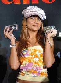 Amrita Arora at the launch of Canon digital products.
