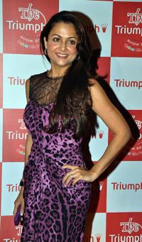 Amrita Arora at the Triumph Lingerie 2011 fashion show in Mumbai.
