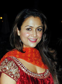 Amrita Arora at the wedding ceremony of Neelam Kothari and Sameer Soni in Mumbai.