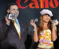 Alok Bharadwaj and Amrita Arora at the launch of Canon digital products.