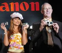 Amrita Arora and Alan Grant at the launch of Canon digital products.