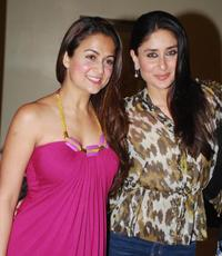 Amrita Arora and Kareena Kapoor at the launch party of