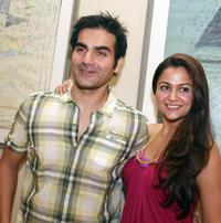 Arbaaz Khan and Amrita Arora at the launch party of
