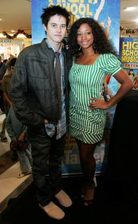 Lucas Grabeel and Monique Coleman at the promotional tour of High School Musical.