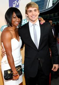 Monique Coleman and Neil Haskell at the premiere of