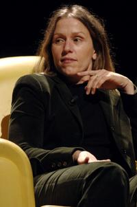 Frances McDormand at the meeting about the American Cinema at the Auditorium of the Music.