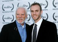 Malcolm McDowell and Charlie McDowell at the 8th Annual Malibu International Film Festival Award Night.