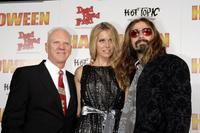 Malcolm McDowell, Sheri Moon Zombie and Rob Zombie at the premiere of MGM's