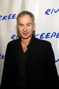 John McEnroe at the 2nd benefit photo auction for Riverkeeper.
