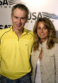 John McEnroe and President Bonnie Hammer at the