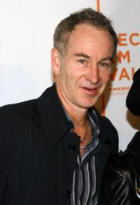 John McEnroe at the premiere of
