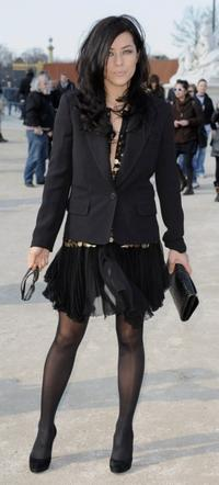 Mylene Jampanoi at the Christian Dior Ready-to-Wear A/W 2009 Fashion show during the Paris Fashion Week.