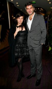 Mylene Jampanoi and Guest at the Globes of Cristal Awards for Art and Culture.
