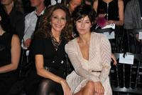 Marisa Berenson and Mylene Jampanoi at the Christian Dior Ready to Wear Spring/Summer 2011 show during the Paris Fashion Week.