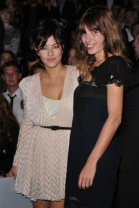 Mylene Jampanoi and Lou Doillon at the Christian Dior Ready to Wear Spring/Summer 2011 show during the Paris Fashion Week.