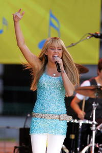 Miley Cyrus during ABC's Good Morning America summer concert series in N.Y.