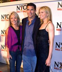 Kelly Ripa, Ted McGinley and Faith Ford at the celebration of the grand opening of World Disney Flagship Store.