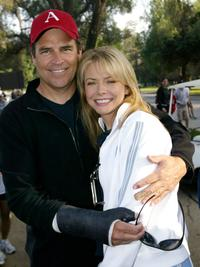 Ted McGinley and Faith Ford at the 24th Annual Saint John's Jimmy Stewart Relay Marathon.