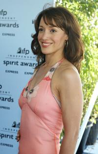Jennifer Beals attends the 2003 IFP Independent Spirit Awards.