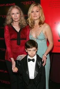 Mia Farrow, Julia Stiles and Seamus Davey-Fitzpatrick at the screening of
