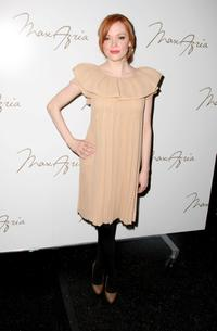 Rose McGowan at the Max Azria 2008 fashion show during Mercedes-Benz Fashion Week Fall 2008.