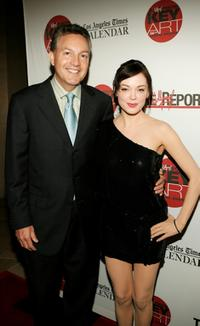 Rose McGowen and John Kilcullen at the Hollywood Reporter's 36th Annual Key Art Awards.