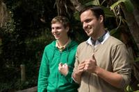 Michael Cera and Jake Johnson in