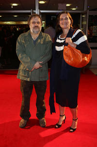 Slavoj Zizek and director/producer Sophie Fiennes at the England premiere of