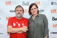 Slavoj Zizek and director/producer Sophie Fiennes at the Canada premiere of