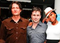 Director David Munro, Matt McGrath and Yaya DaCosta at the premiere party of