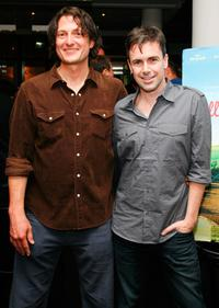 Director David Munro and Matt McGrath at the premiere party of