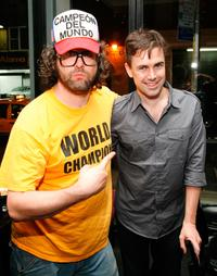 Judah Friedlander and Matt McGrath at the premiere party of